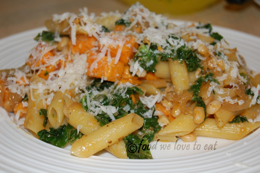 Kale and sweet potato pasta (2/2)